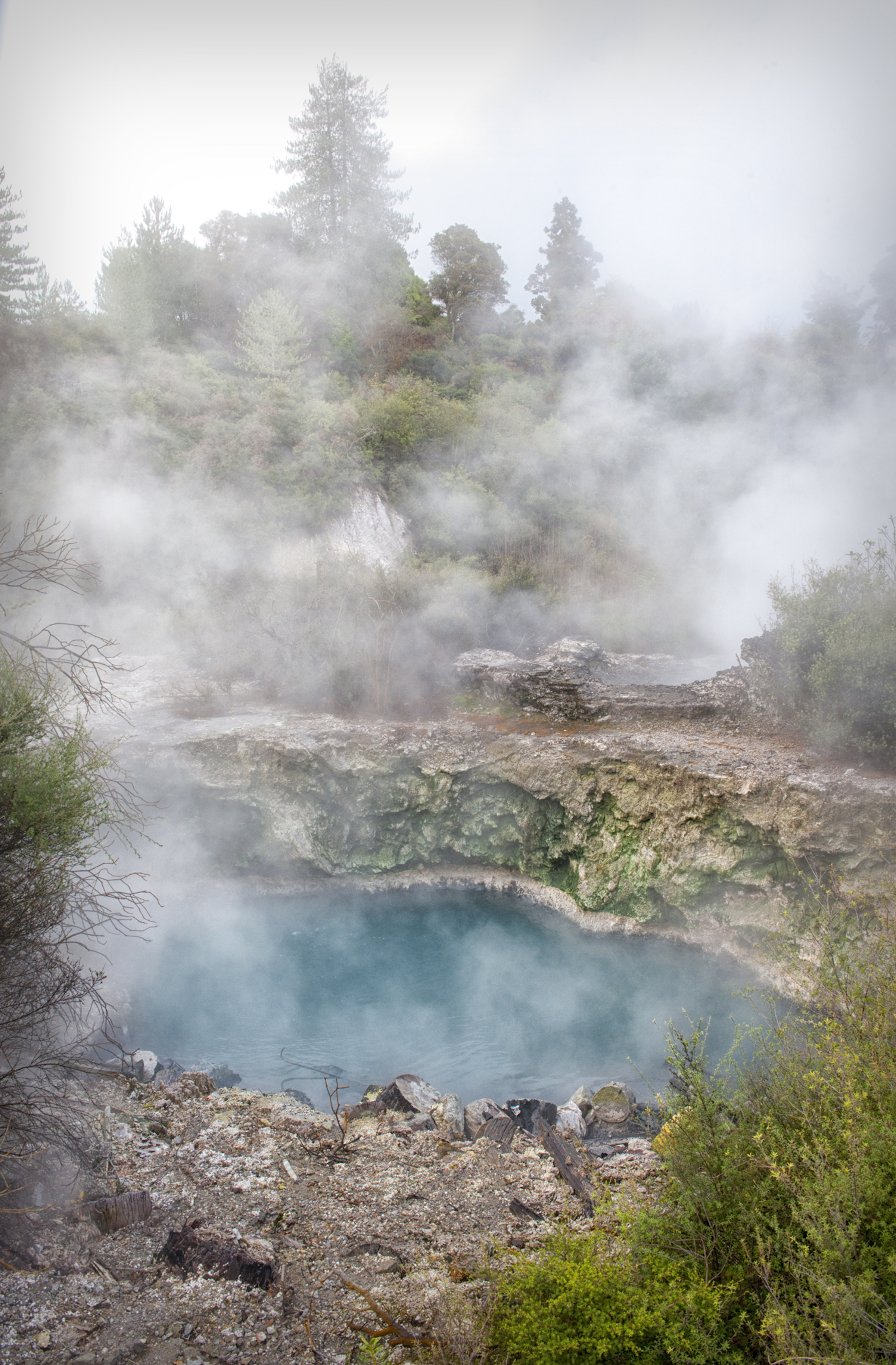 Steam and boiling natural pools
