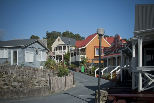 The streets of Whakarewarewa Village