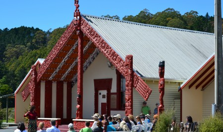 The Whakarewarewa Village meeting house
