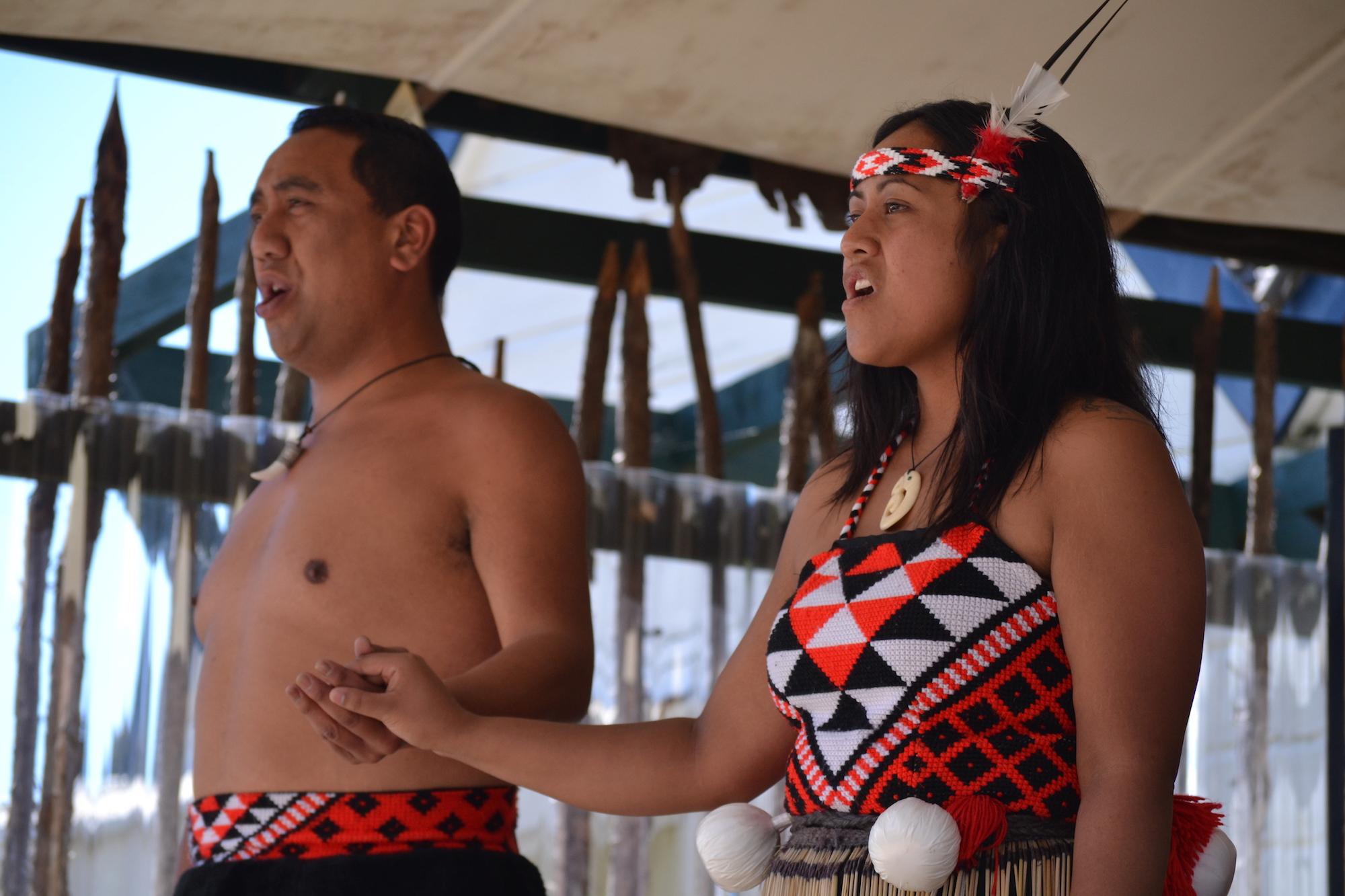 Powhiri at Whakarewarewa Maori Village